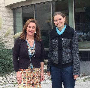 Bertine samen met Francisca Huisman (Gemeente Lelystad), die dit jaar medeverantwoordelijk is voor de organisatie van de jaarlijkse HR-Themadag van SWiF